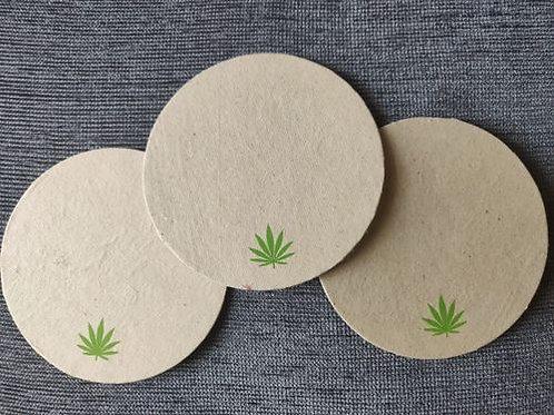 B.E Hemp 100% Hemp Disposable Coasters Set of 6