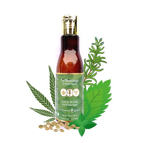 Amayra Naturals Fit-Skinology Hemp Seed Oil + Rosemary + Mint Face Wash 100ml