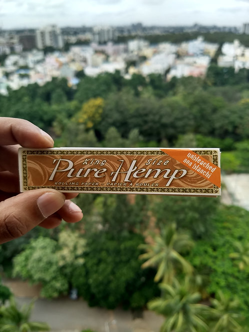PURE HEMP King Size Unbleached Rolling Paper (33 sheets, Spain Import))