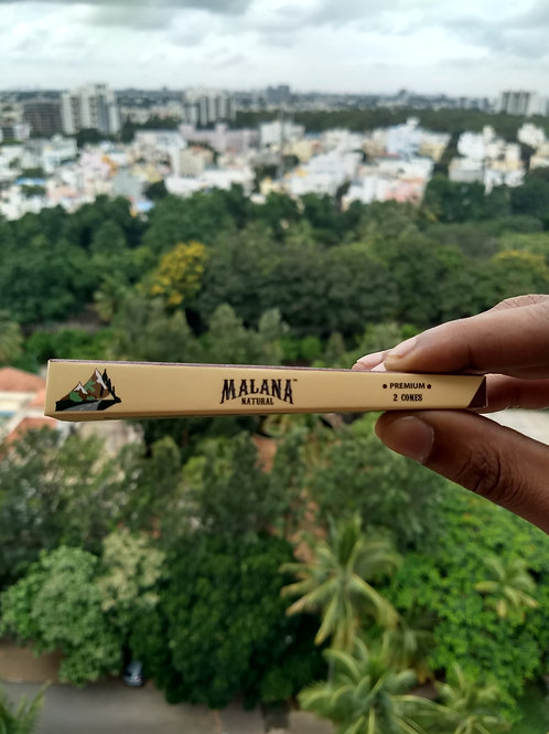 Malana Natural Pre Rolled Cones (Small size - 84 mm. 2 cones in 1)