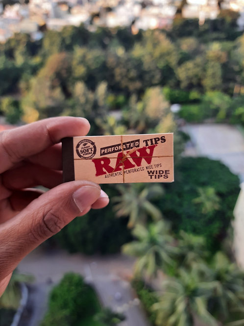 RAW Perforated Wide Tips (50 Tips)