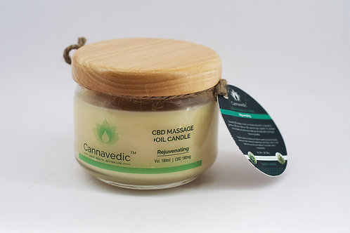 Cannavedic Massage Oil Candle: Rejuvenating
