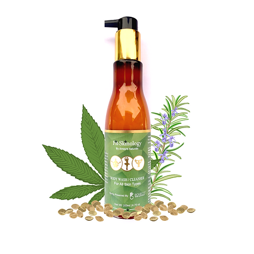 Amayra Naturals Fit-Skinology Hemp Seed Oil + Rosemary + Mint Body Wash-200ml