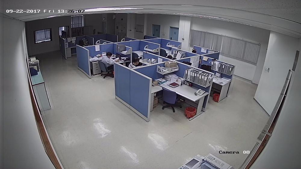 CCTV camera system deployed in office