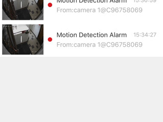 Receiving notifications when motion is detected