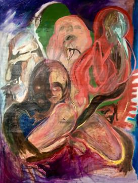 Shadow and Self (self portrait/figurative) 2020