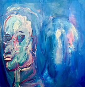 My Subconscious Watching (Self portrait) 2016