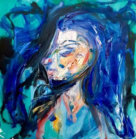 Ice-face (Self portrait) 2016