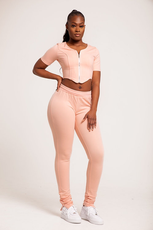 'TALL'  Pink Body Trousers