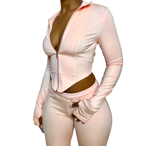 Pink Long Sleeve Body Top
