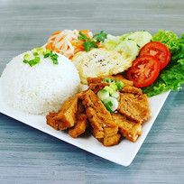 Organic braised tofu rice plate.jpe