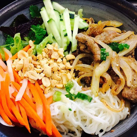 Sizzling Beef Vermicelli salad bowl is f