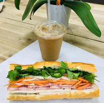 Banh mi and Vietnamese iced coffee anyon