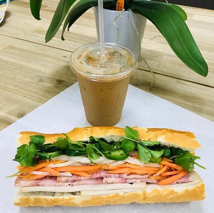 Banh mi and Vietnamese iced coffee anyon