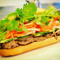 Delicious sizzling beef banh mi anyone_