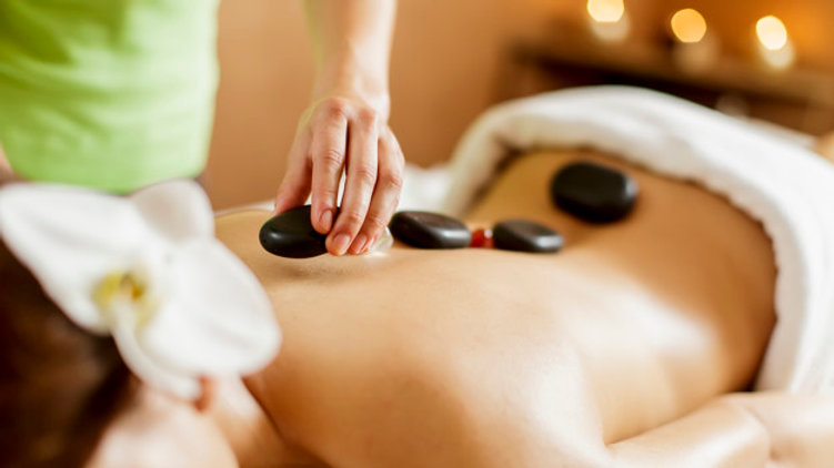 Full Body Hot Stone Massage.