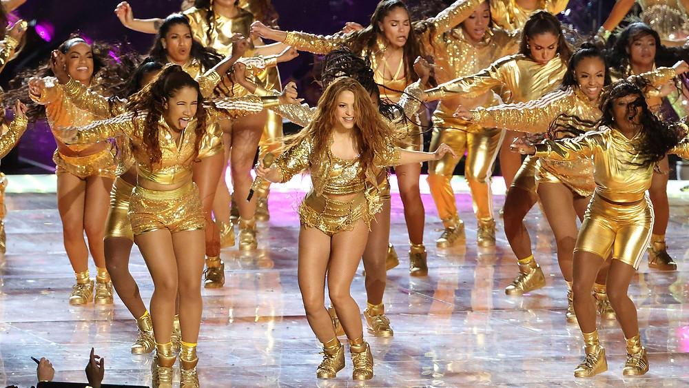 Shakira'nın Champeta Super Bowl Koreografisi