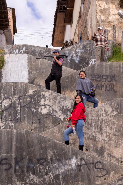 Keka Guzmán, Angie Ramírez, Juan Carlos Pino y Rúrico Pino