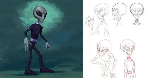 Alien poses