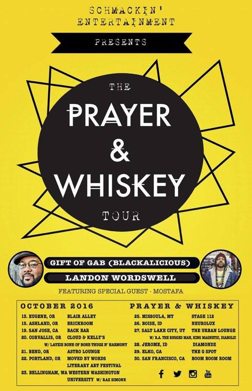 """Mo Stafa hits the road again with the homies for the release of Landon Wordswell's release of his new album """"prayer and whiskey""""."""