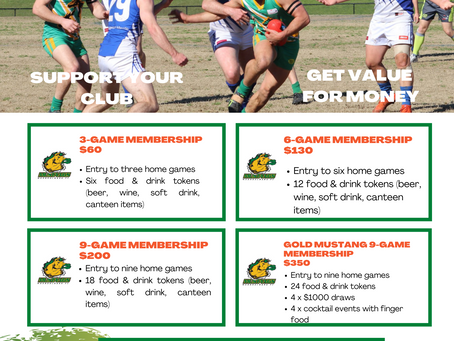 2021 MEMBERSHIPS AVAILABLE