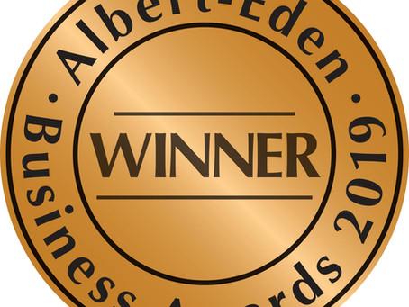 winners! aLBERT eDEN bUSINESS aWARDS 2019