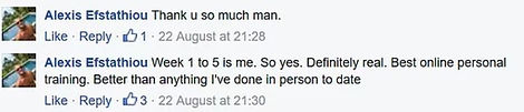 alexis fb comment best personal training
