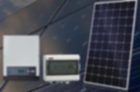 Kit Fotovoltaico NHS Solar com Placas Fotovoltaicas, Inversores, Stringbox, Estruturas de alumínio e parafusos em aço inox, cabos UV e conectores MC4. Fixação em telhas coloniais cerâmicas, onduladas fibrocimento, metálicas e laje solo