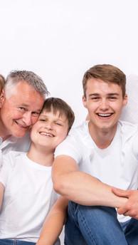 Familie Fotoshoot in de studio