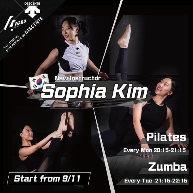【課堂新增🇰🇷韓國女教練Sophia Kim👱🏻♀️ X Zumba ➕ Pilates✨】