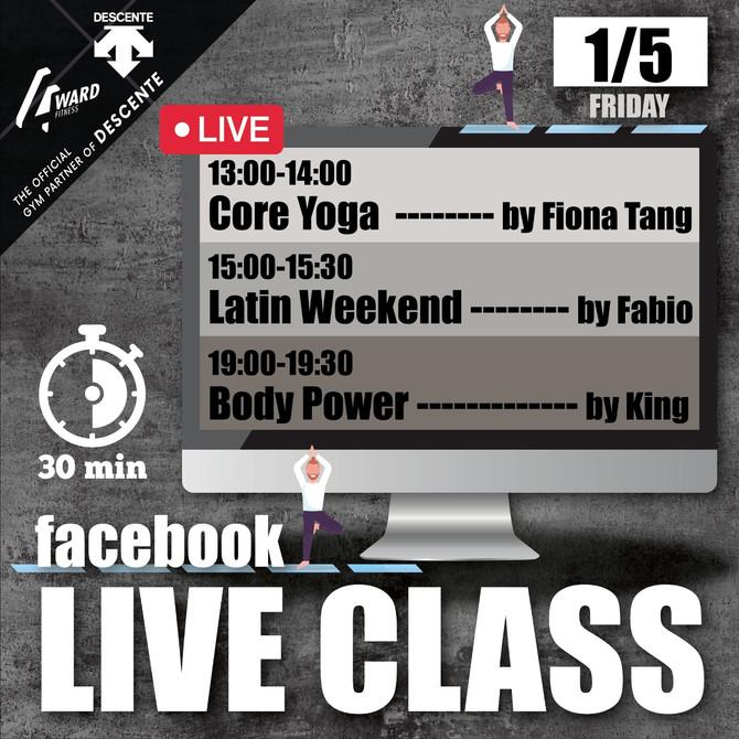 【Live class schedule 1-3/5🗓✨ #停gym不停練】