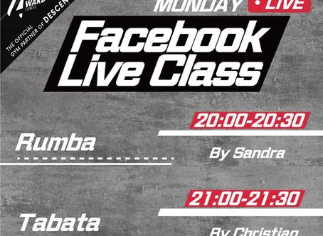 【停業不停練✨Live class schedule 3/8-4/8🗓】