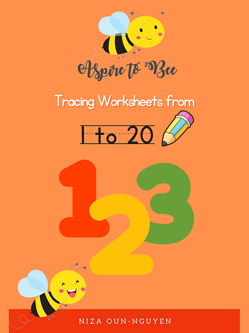Aspire to Bee: Tracing Worksheets 1 to 20 (Digital)