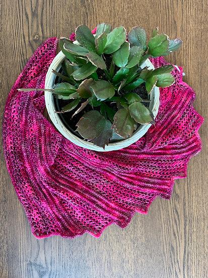 Pink Dragon Wing Shawl