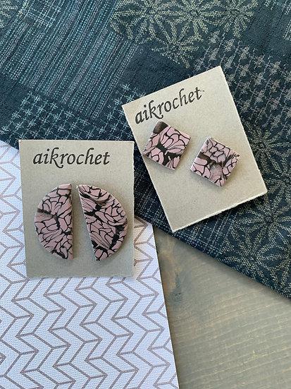 Abstract Purple Earrings