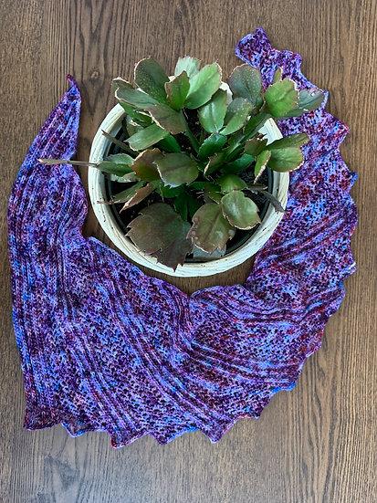 Purple Dragon Wing Shawl