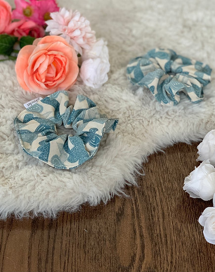 Blue Butterfly Kimono Scrunchie