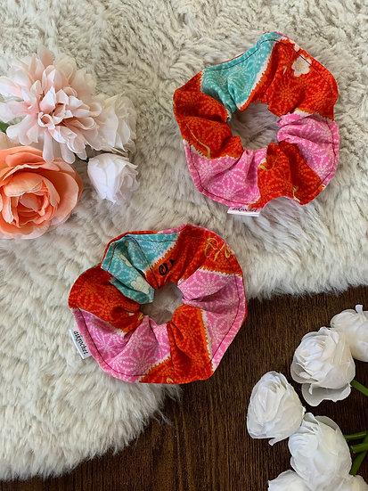Striped Kimono Scrunchie