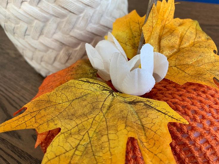 Classic Flower Knitted Pumpkin