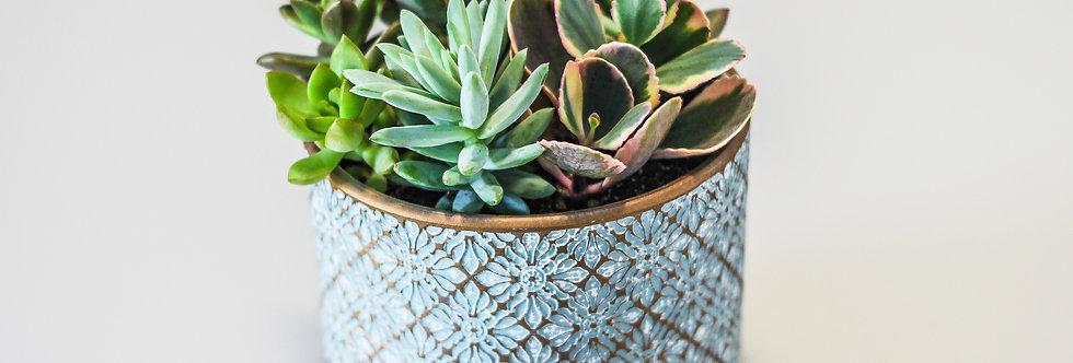 Vaso em cerâmica -Trabalhado
