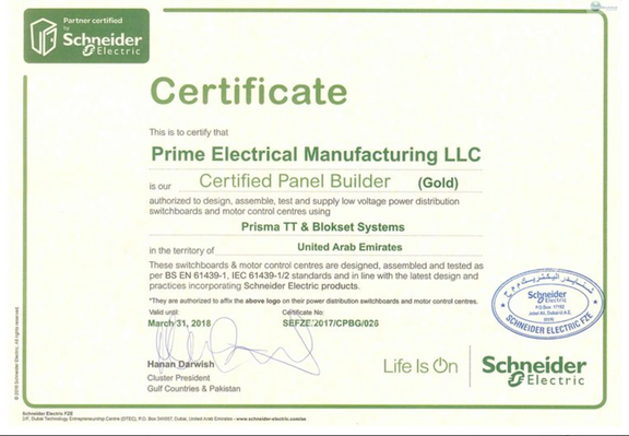 PEM - A Certified Panel Builder