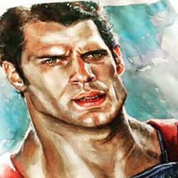 #superman#acuarela #watercolor#clarkkent#dccomics#henrycavill#manofsteel##warner#warnerbros