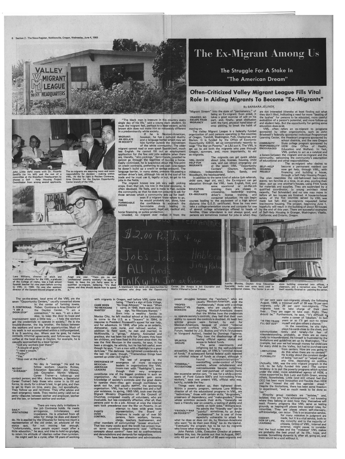 1969 VML Newspaper Feature