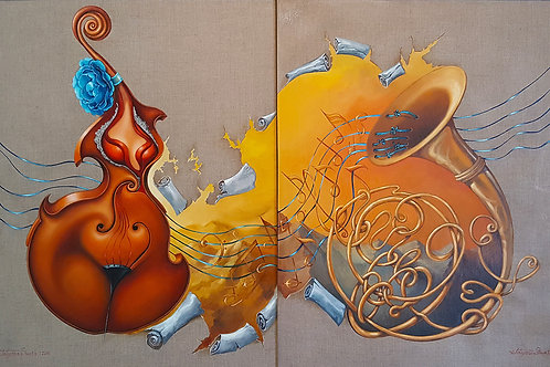 """Cello and French Horn"" - Diptych"