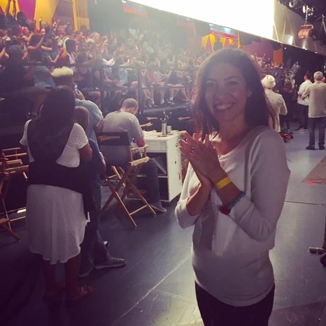 Arianna Ortiz on the set of The Thundermans