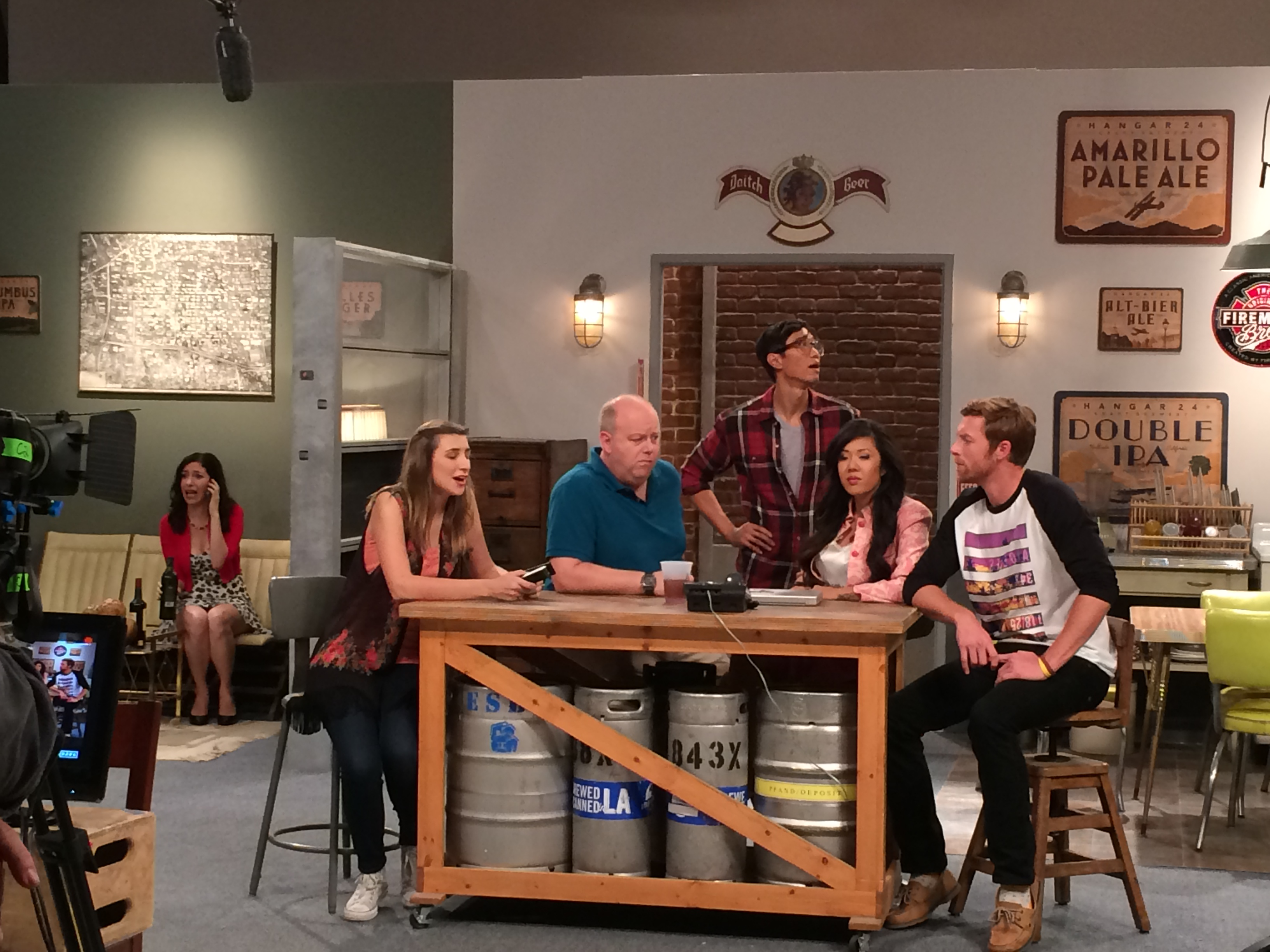 """On the set of """"L.A. Beer"""""""