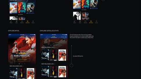 Cineplex Store iOS Ui Elemtns