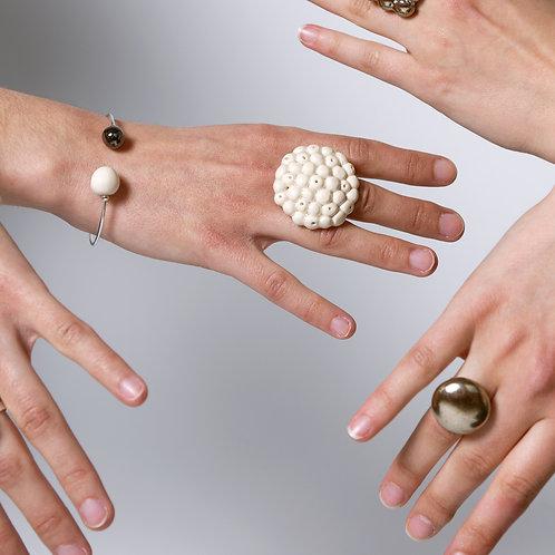 Bracelet 2 perles sur fil d'argent