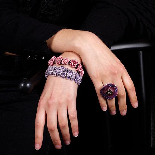 Bracelet roses doubles