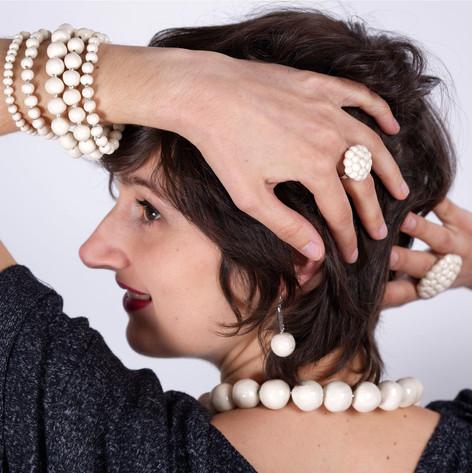 Parure perles - Bijoux en céramique